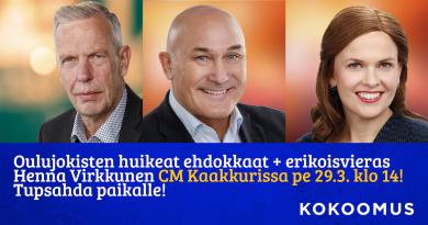 Oulujoen iso vaalirieha Citymarket Kaakkuri pe 29.3. klo 14