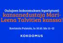 Oulujoen kokoomuksen kyselyntunti kansanedustaja Mari-Leena Talvitien kanssa